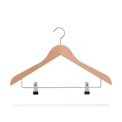 Kleiderbügel mit Klammersteg, gewinkelt