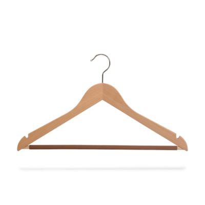 Kleiderbügel mit Steg und Rockeinschnitten, gewinkelt