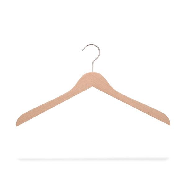 Kleiderbügel aus Holz roh, flach