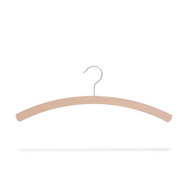 platzparender Kleiderbügel aus Holz, roh geschliffen