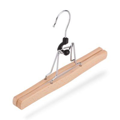 Klemmbügel für Hosen aus Buchenholz