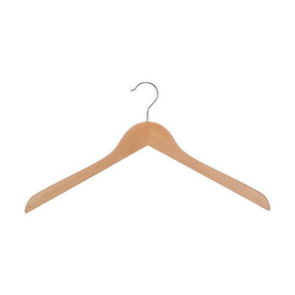Kleiderbügel aus Holz, flach