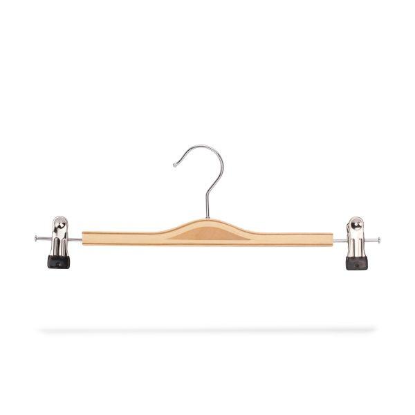 Kleiderbügel aus Holz für Hosen, Clips seitlich