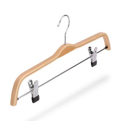 Kleiderbügel aus Holz für Hosen, mit Klammersteg