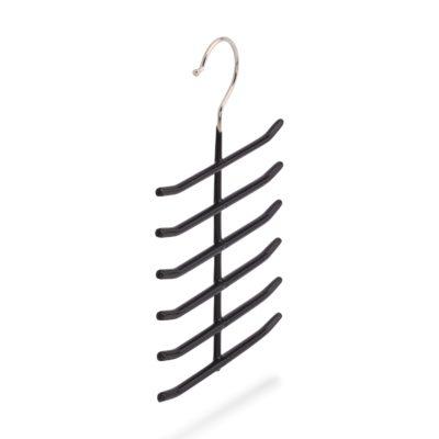 Kleiderbügel für 12 Krawatten aus Metall, schwarz