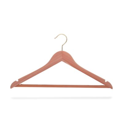 Kleiderbügel aus Zedernholz mit Steg, flach